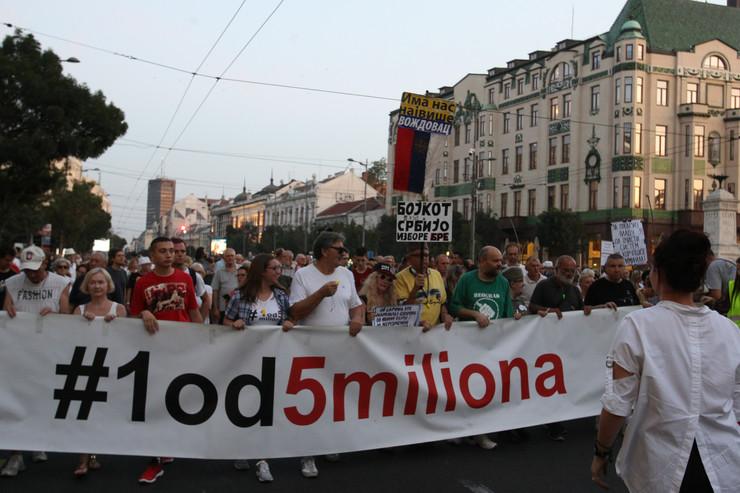 Protest 1 od 5 miliona, 31. avgust