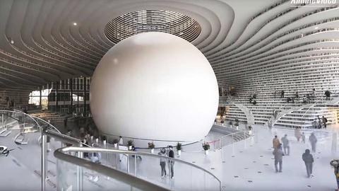 Niezwykłą bibliotekę otwarto w październiku w chińskim mieście Tiencin
