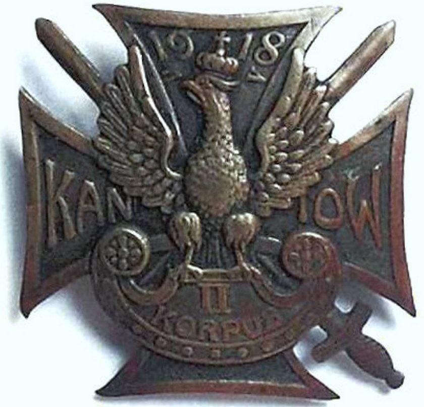 Na pamiątkę bitwy pod Kaniowem wykonano z mosiądzu specjalną odznakę.