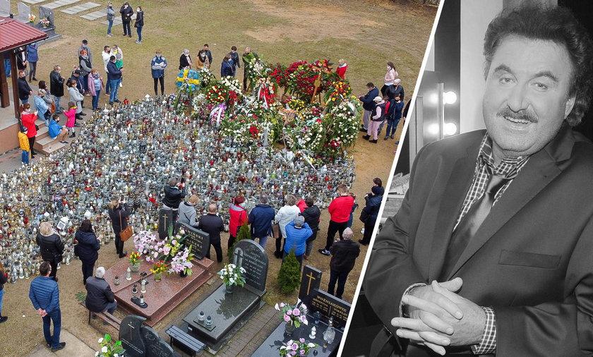 Tysiące fanów odwiedzają grób Krzysztofa Krawczyka w Grotnikach pod Łodzią.
