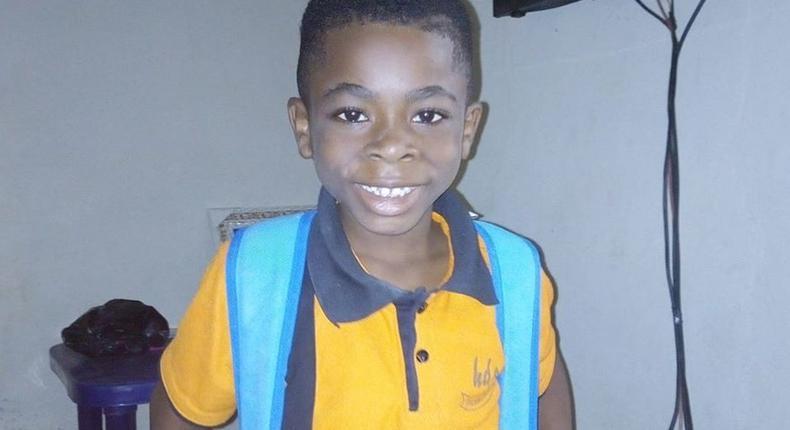 Treasure Akinsohun - The 6-yr-old boy that was found dead in freezer (NAN Photos)