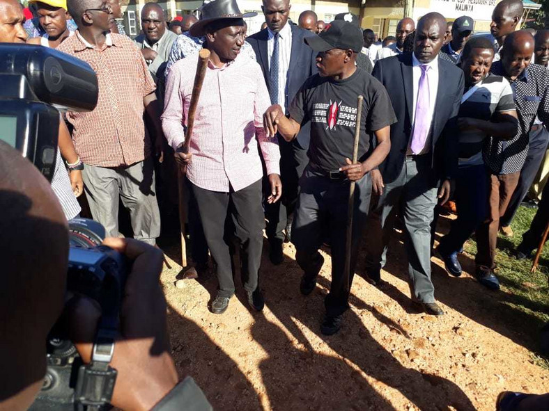 Image result for Khalwale with Ruto in Kakamega