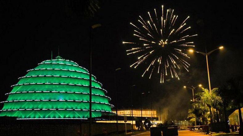 City fireworks have always burst spectacularly over the multi-coloured dome of the Kigali Convention Centre