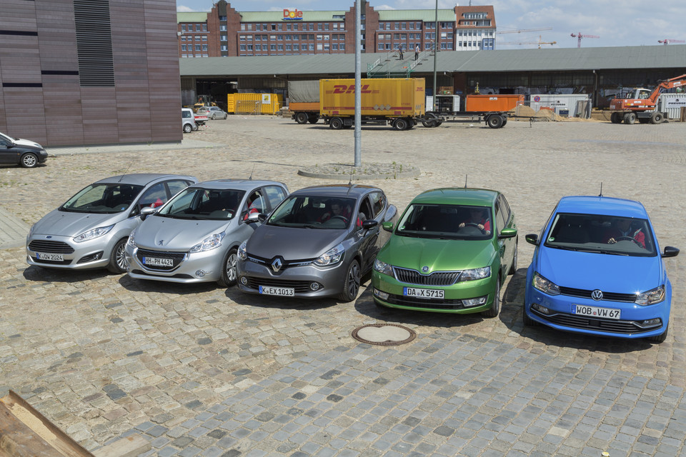 Ford Fiesta, Peugeot 208, Renault Clio, Skoda Rapid, VW Polo