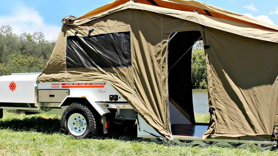 Kimberley Kamper Platinum w swojej najpopularniejszej, namiotowej wersji.