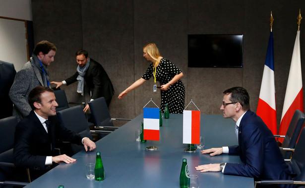 Mateusz Morawiecki i Emmanuel Macron