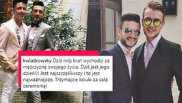 """Michał Kwiatkowski wziął ślub! Wyszedł za mąż za """"mężczyznę swojego życia"""""""
