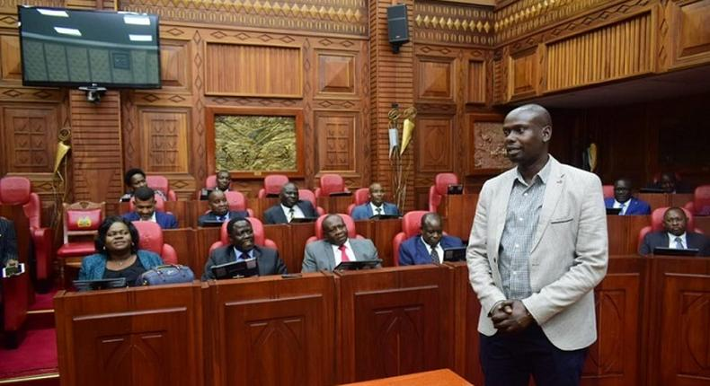 Kibra MP Imran Okoth releases his Covid19 test results after rumors on 17 infected MPs