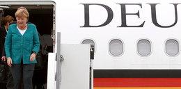 Golas w samolocie Angeli Merkel