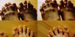 Groza! To są stopy baletnicy!