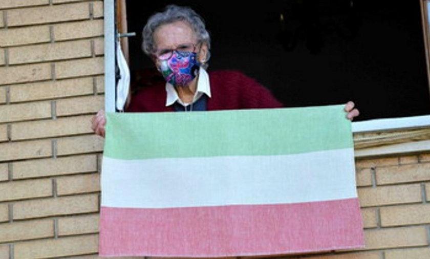 Koronawirus: 109-letnia Włoszka apeluje o noszenie maseczek