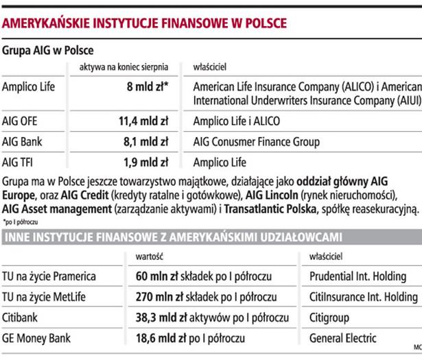 Amerykańskie instytucje finansowe w Polsce