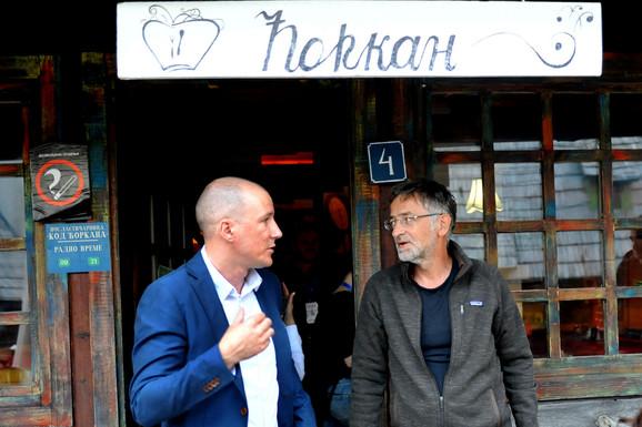 Milan Nešković i Zoran Cvijanović na Mokroj Gori