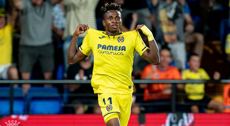 Nigerian Players Abroad: Samuel Chukwueze kicks off La Liga with a goal, Ndidi scores in England while Igboun nets brace in Russia
