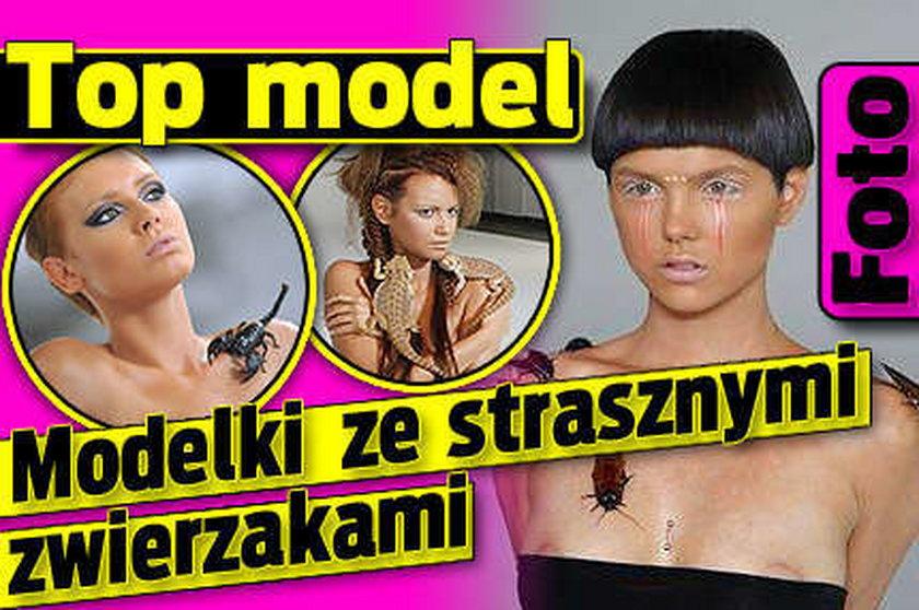 Top model. Modelki ze strasznymi zwierzakami. Foto