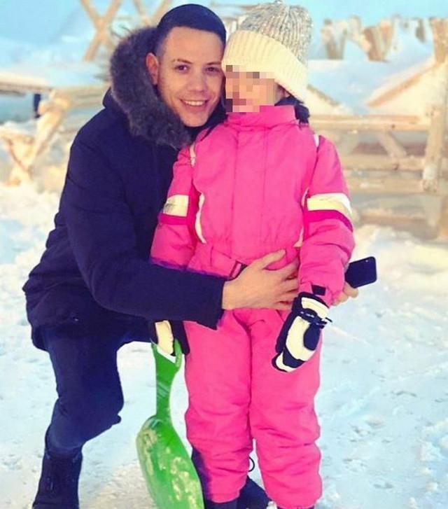 Bogdan Srejović sa ćerkom