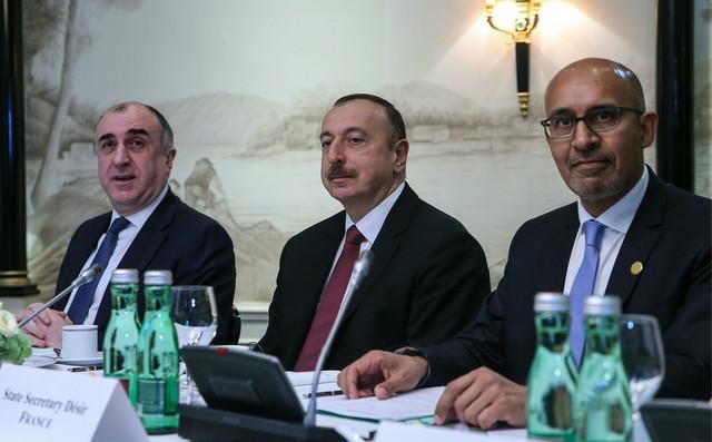 Predsednik Azerbejdžana Ilham Alijev na sastanku Minsk grupe u Beču 2016.