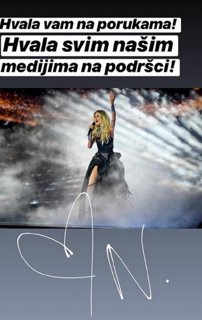 Poruka Nevene Božović nakon Evrovizije