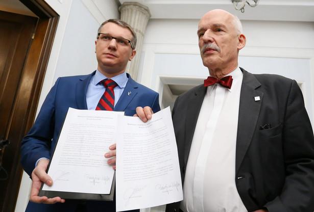 Janusz Korwin Mikke i Przemysław Wipler