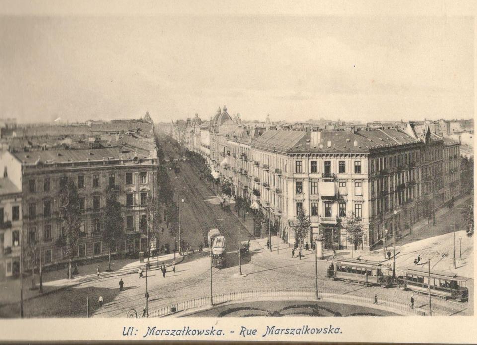 Widok Marszałkowskiej z placu Zbawiciela