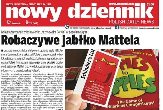 """Czołówka """"Nowego Dziennika"""""""