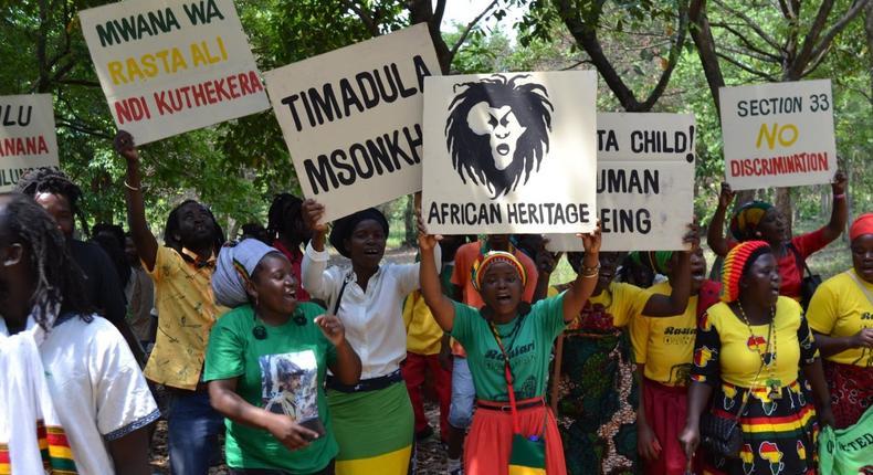 Rastafarians protest in Malawi [Credit: Malawi24.com]