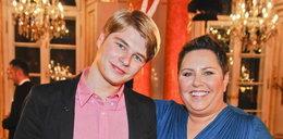 Dorota Wellman z synem na Wiktorach. Foto