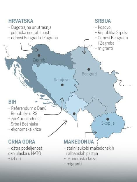 Mapa Balkanskih žarišta