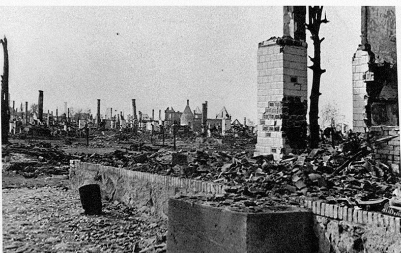 Sochy po pacyfikacji (Źródło: Wikipedia. Kolekcja zdjęć z II wojny światowej doktora Marka Tuszyńskiego)