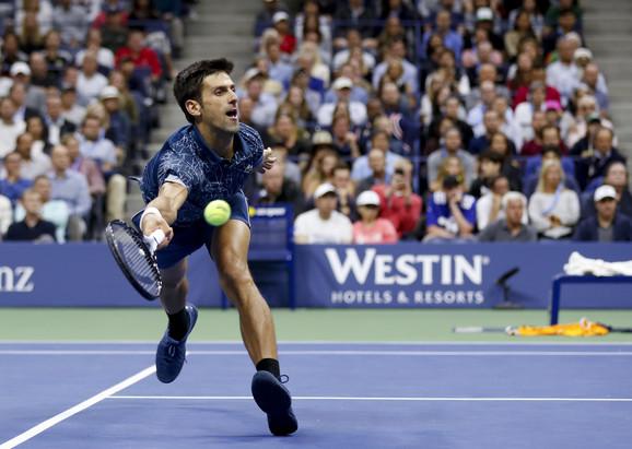 Đoković tokom finala US Opena