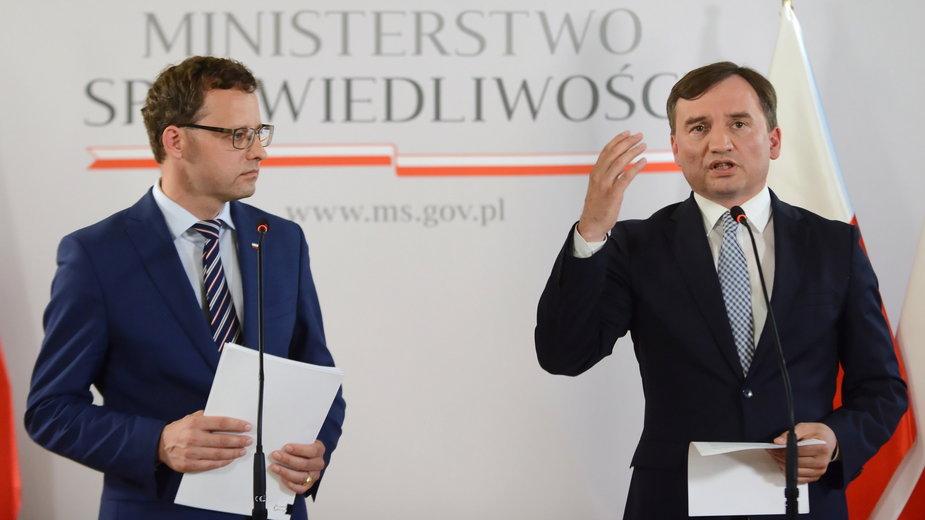 Marcin Romanowski i Zbigniew Ziobro