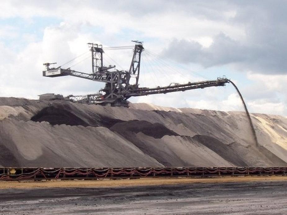 Teren odkrywki węgla brunatnego w Złoczewie