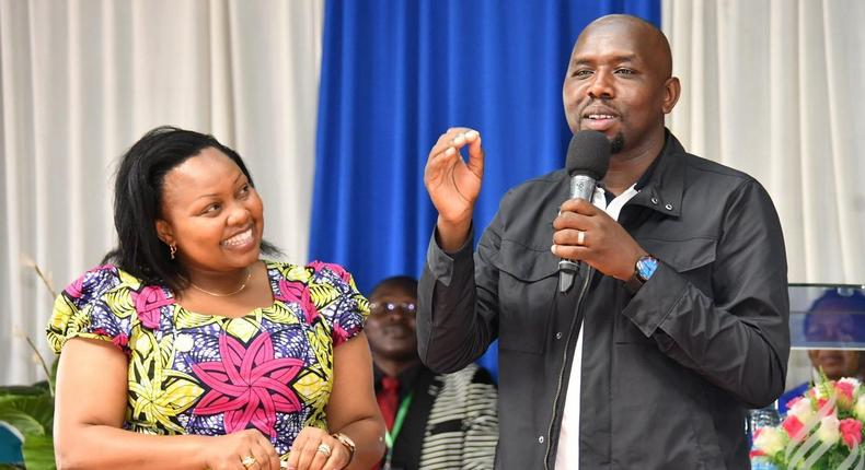 Elgeyo Marakwet Senator Kipchumba Murkomen and Senator Millicent Omanga