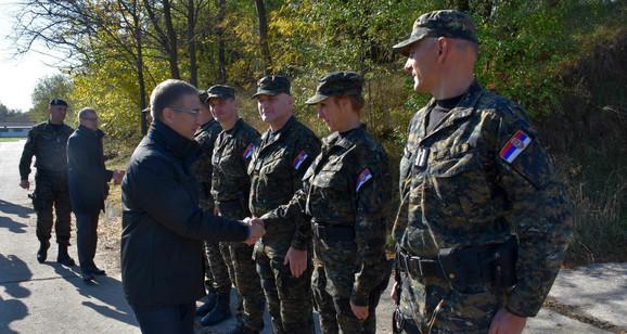 Vežbi je prisustvovao i ministar policije koji je pohvalio spremnost pripadnika Žandarmerije