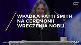 Wpadka Patti Smith na ceremonii wręczenia Nobli