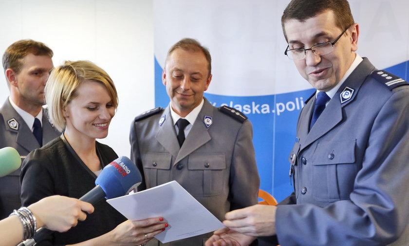Pani Ola z Katowic dostała nagrodę od policji