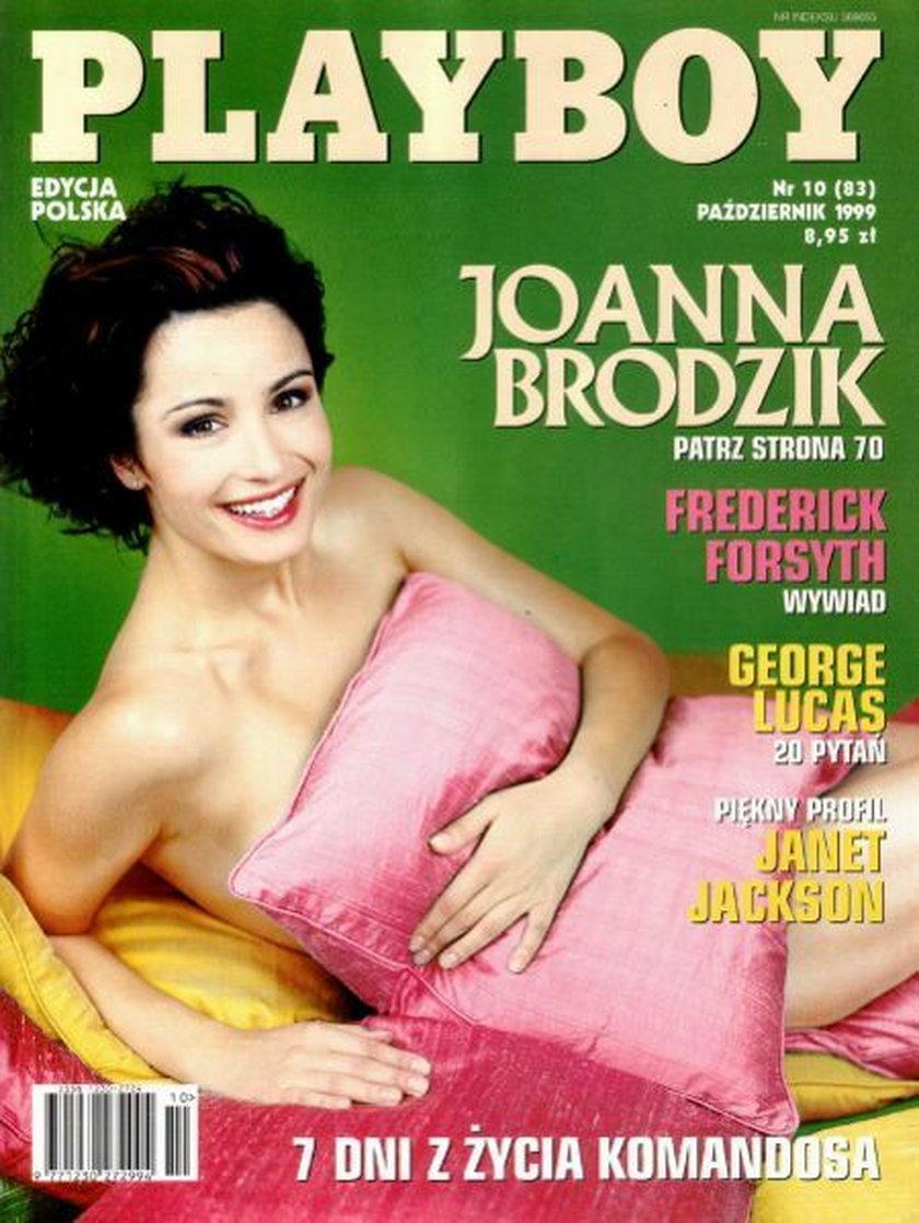 Joanna Brodzik na okładce Playboya