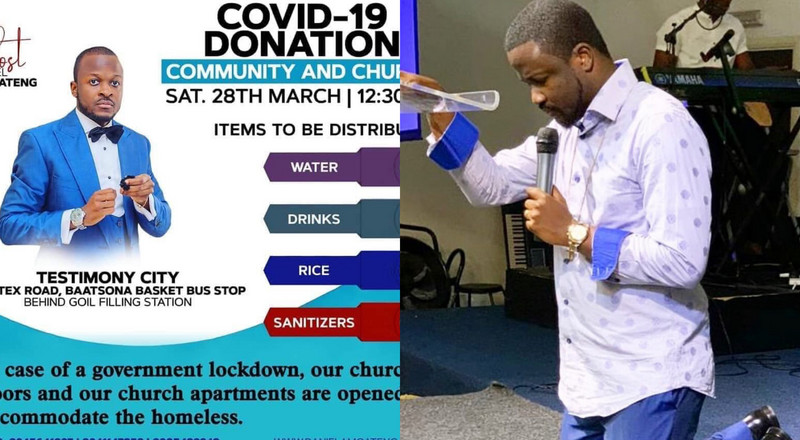 Pastor Daniel Amoateng to donate sanitizers amidst brother's backlash