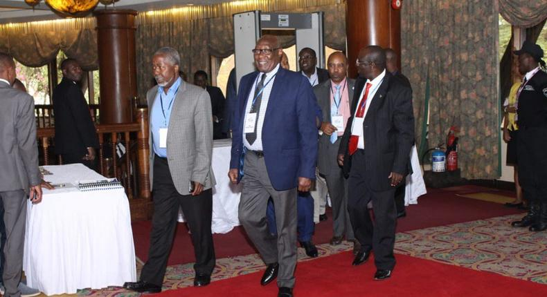 Karanja Kabage arriving at Safari Park Hotel for the Mount Kenya High Level Uongozi Forum on Friday morning, he died later on Friday night