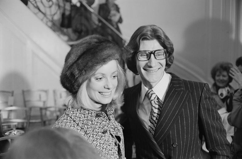 Yves Saint Laurent i Catherine Deneuve