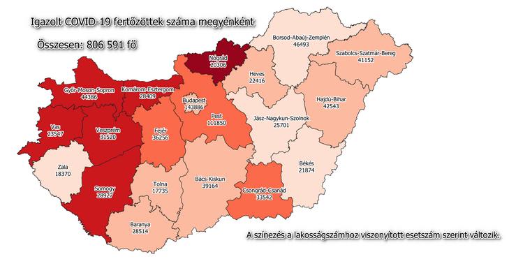 206 az új fertőzött, elhunyt 7 beteg /Fotó: koronavirus.gov.hu