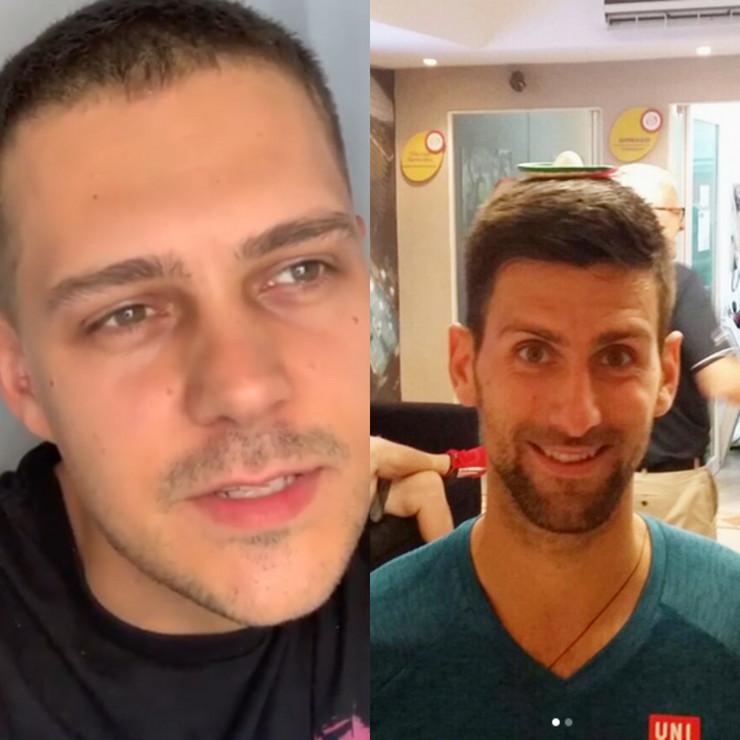 Miloš Biković i Novak Đoković kombo