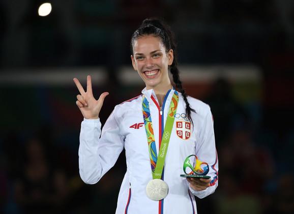 Tijana Bogdanović sa olimpijskim srebrom u Riju