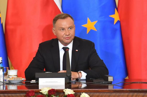 Prezydent Andrzej Duda podczas konferencji prasowej w ramach posiedzenia Rady Gabinetowej