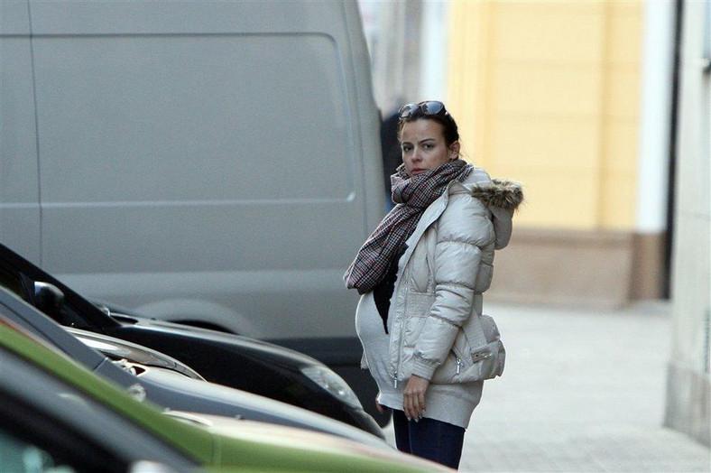 Anna Mucha w dziewiątym miesiącu ciąży