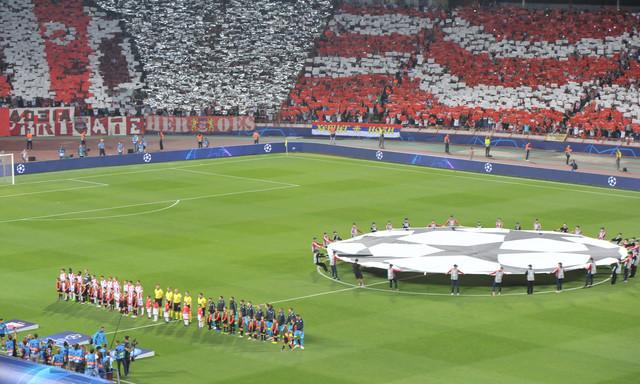 Detalj pred meč Crvena zvezda - Napoli u prvom kolu Lige šampiona