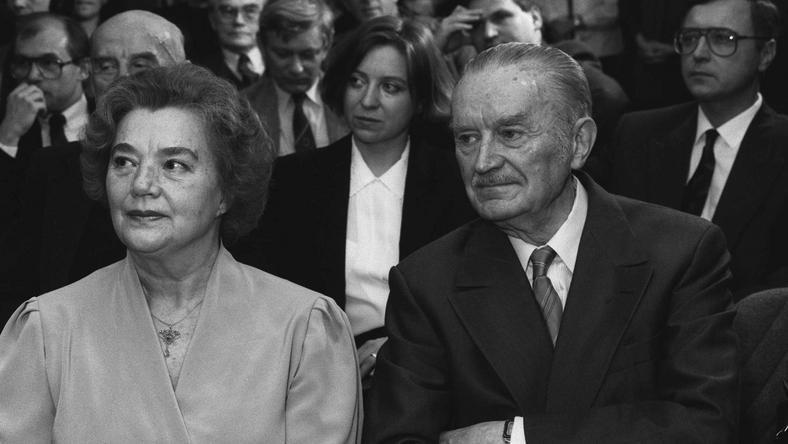 Piotr Jaroszewicz z żoną Alicją Solską-Jaroszewicz