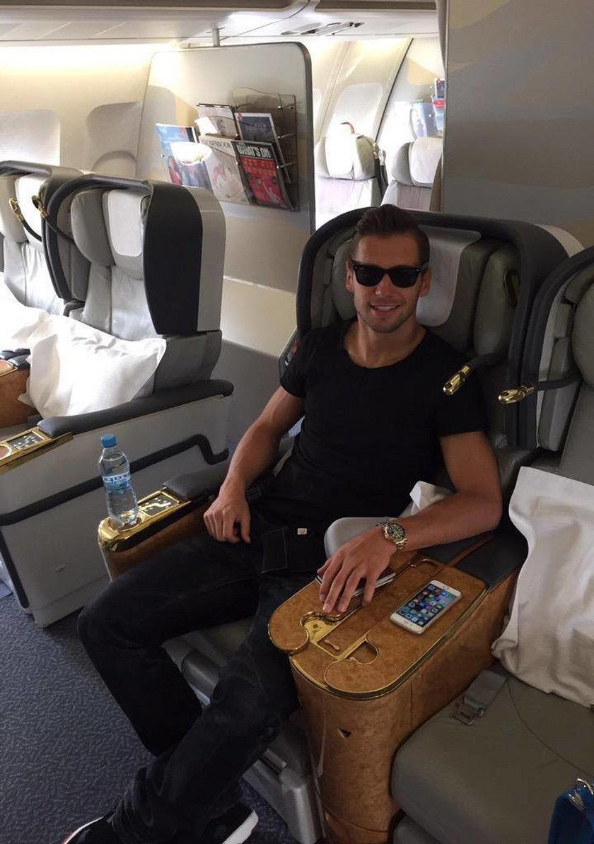 Grzegorz Krychowiak z Celią Jaunat na wakacjach w Dubaju!