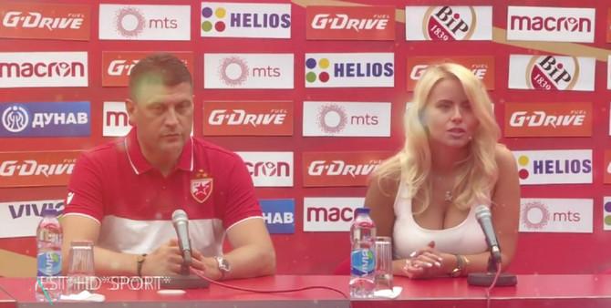 Tatjana Šajković nedavno na konferenciji sa trenerom Zvezde Vladanom Milojevićem