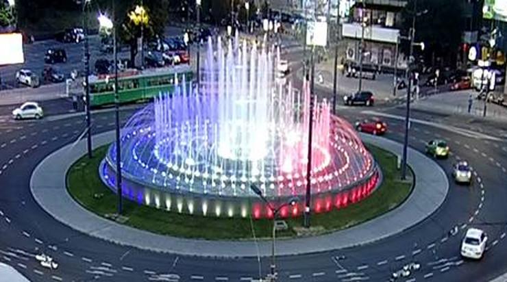 fontana na Slaviji, boje zastave